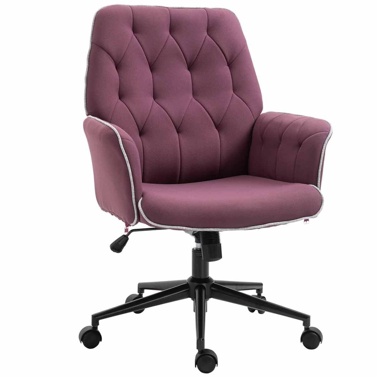 Caversham Tufted Office Chair Purple
