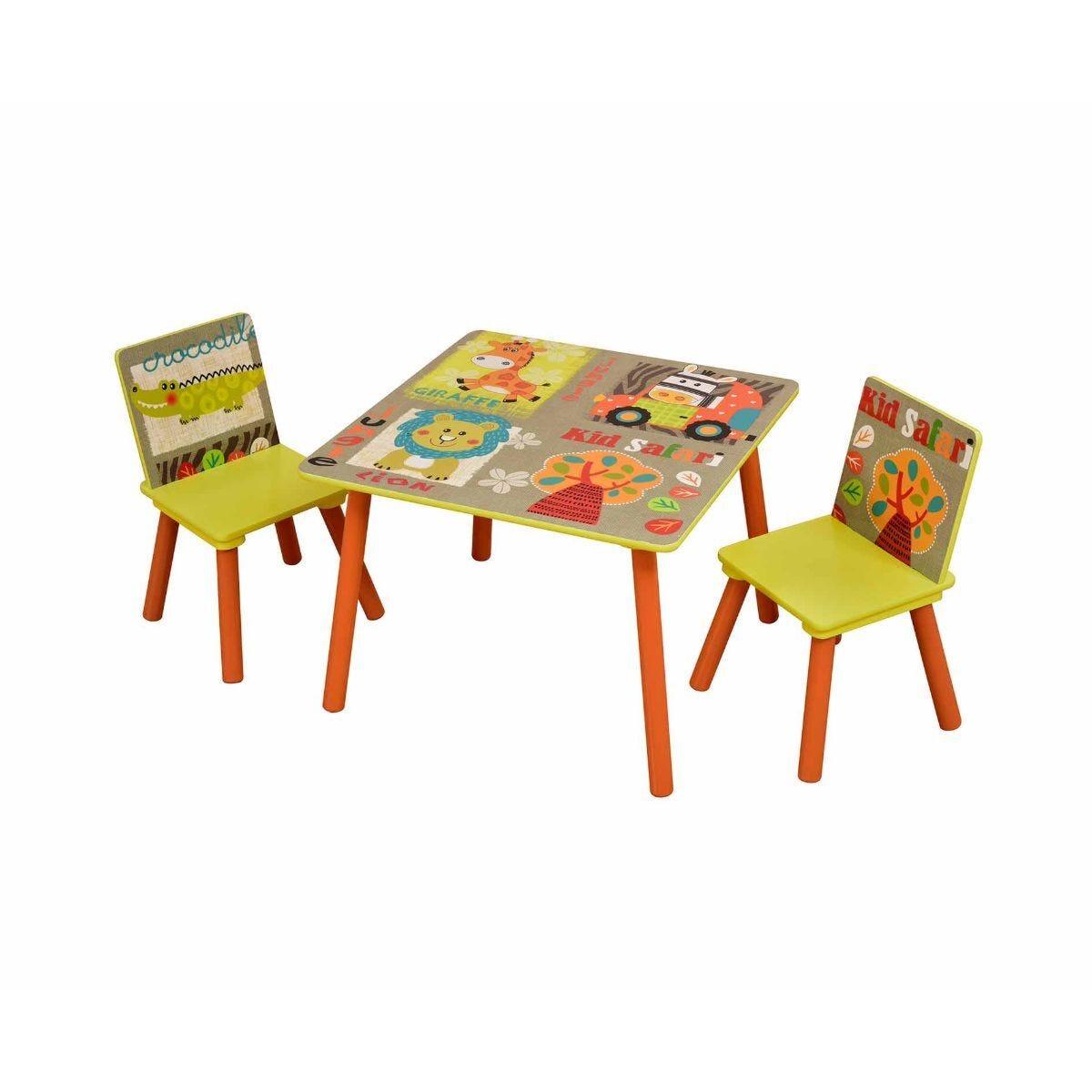 Liberty House Toys Table and 2 Chair Set Safari