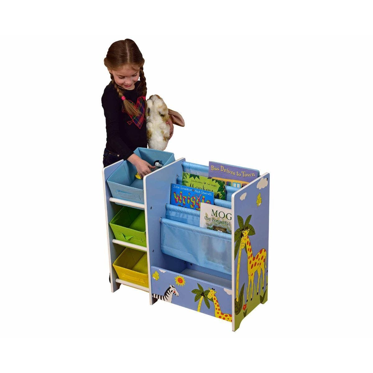 Liberty House Toys Book Display with 3 Storage Bins Savannah