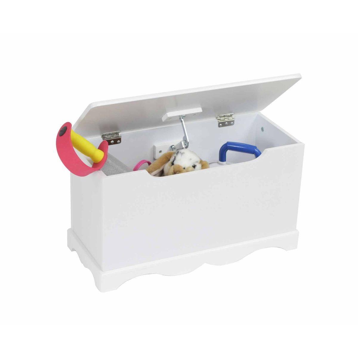 Liberty House Toys White Wooden Toy Box