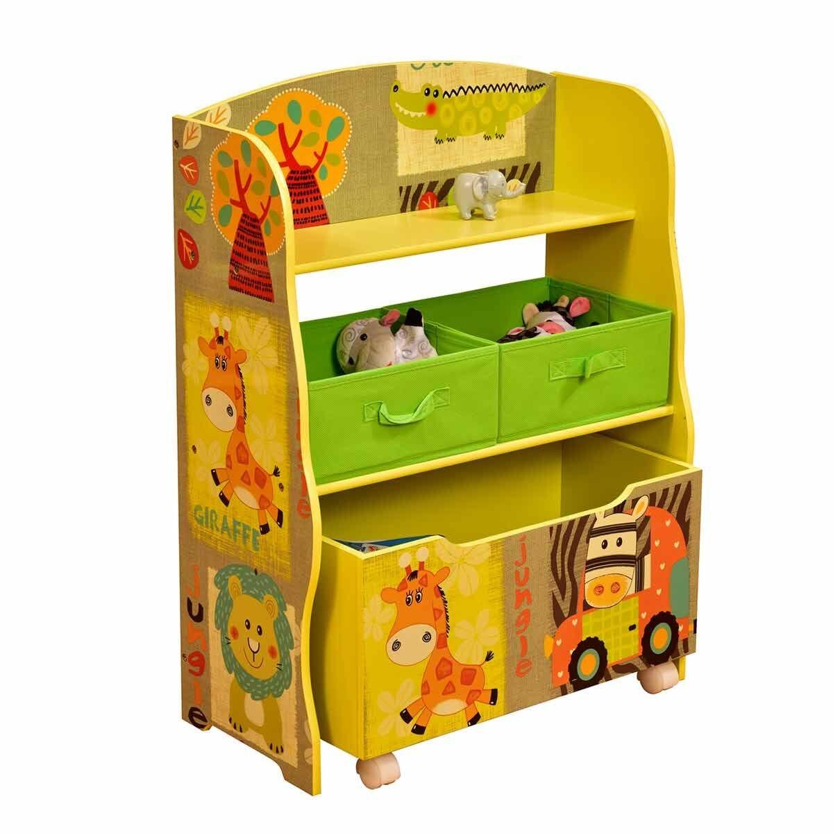 Liberty House Toys Safari Storage Shelf with Toy Box