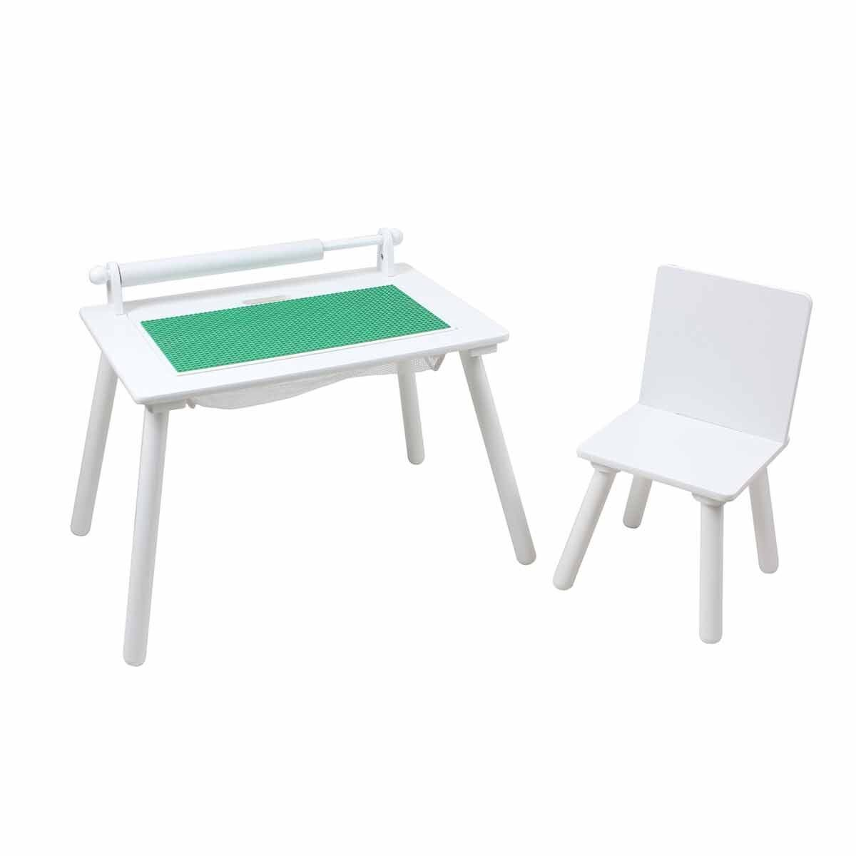 Liberty House Toys Table and Chair with Building Block Board