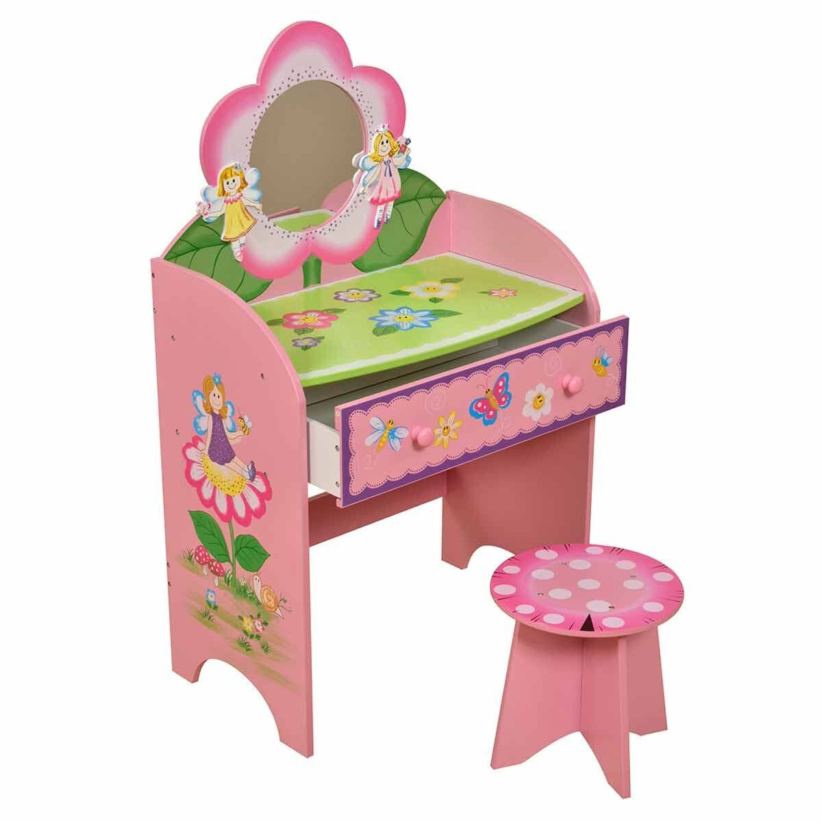 Liberty House Toys Fairy Dressing Table and Toadstool