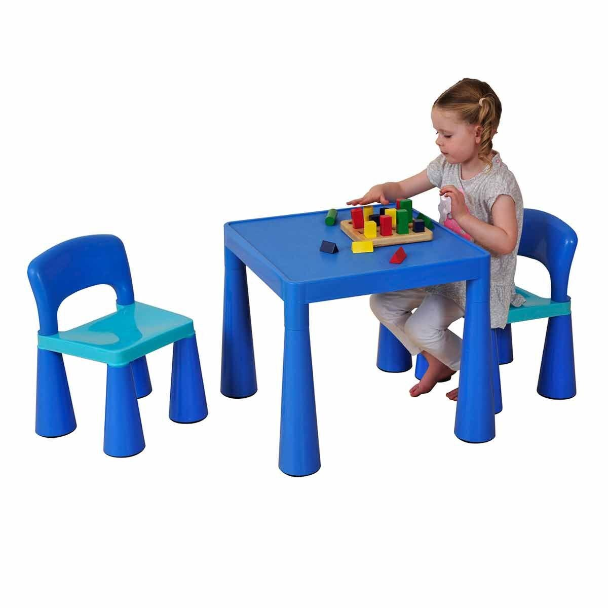 Liberty House Toys Classic Table and Chair Set Blue