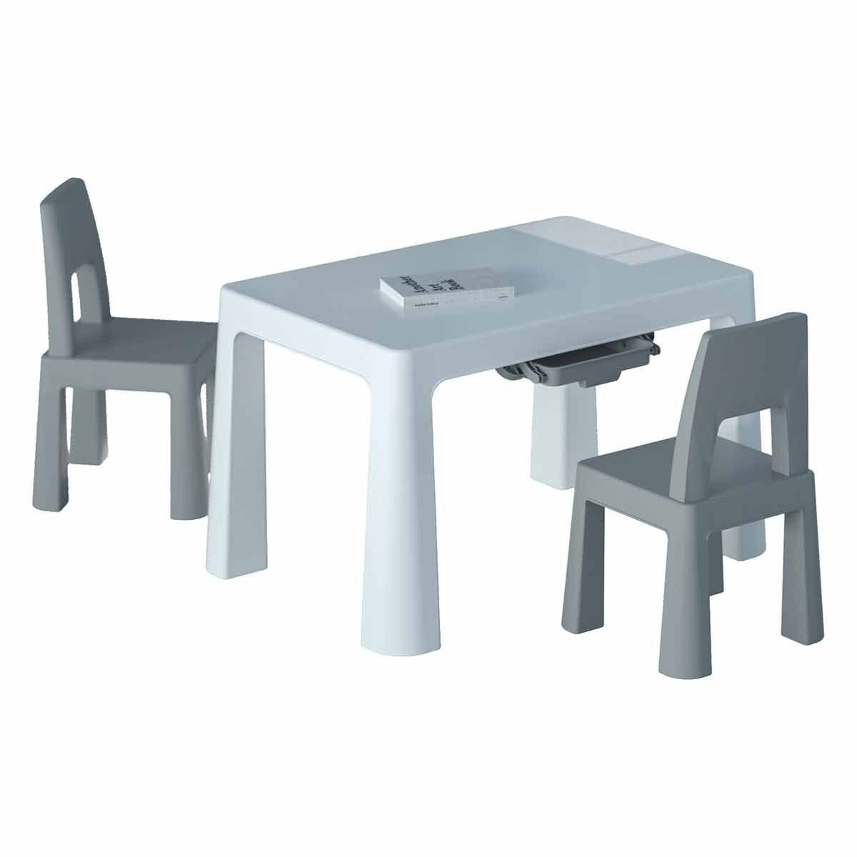 Liberty House Toys Kids Height Adjustable Table and 2 Chairs White