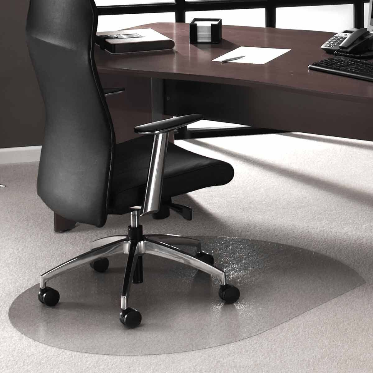 Cleartex Ultimat Chair Mat For Low And Medium Pile Carpet Contoured 99 X 125cm