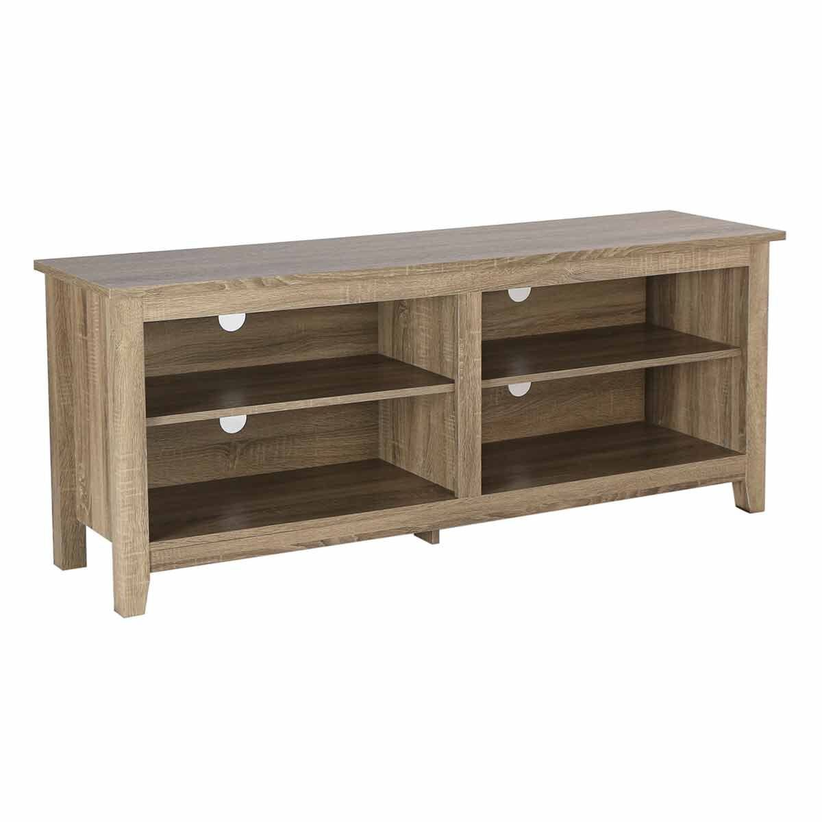Cosenza Rustic Wood TV Stand Light Brown