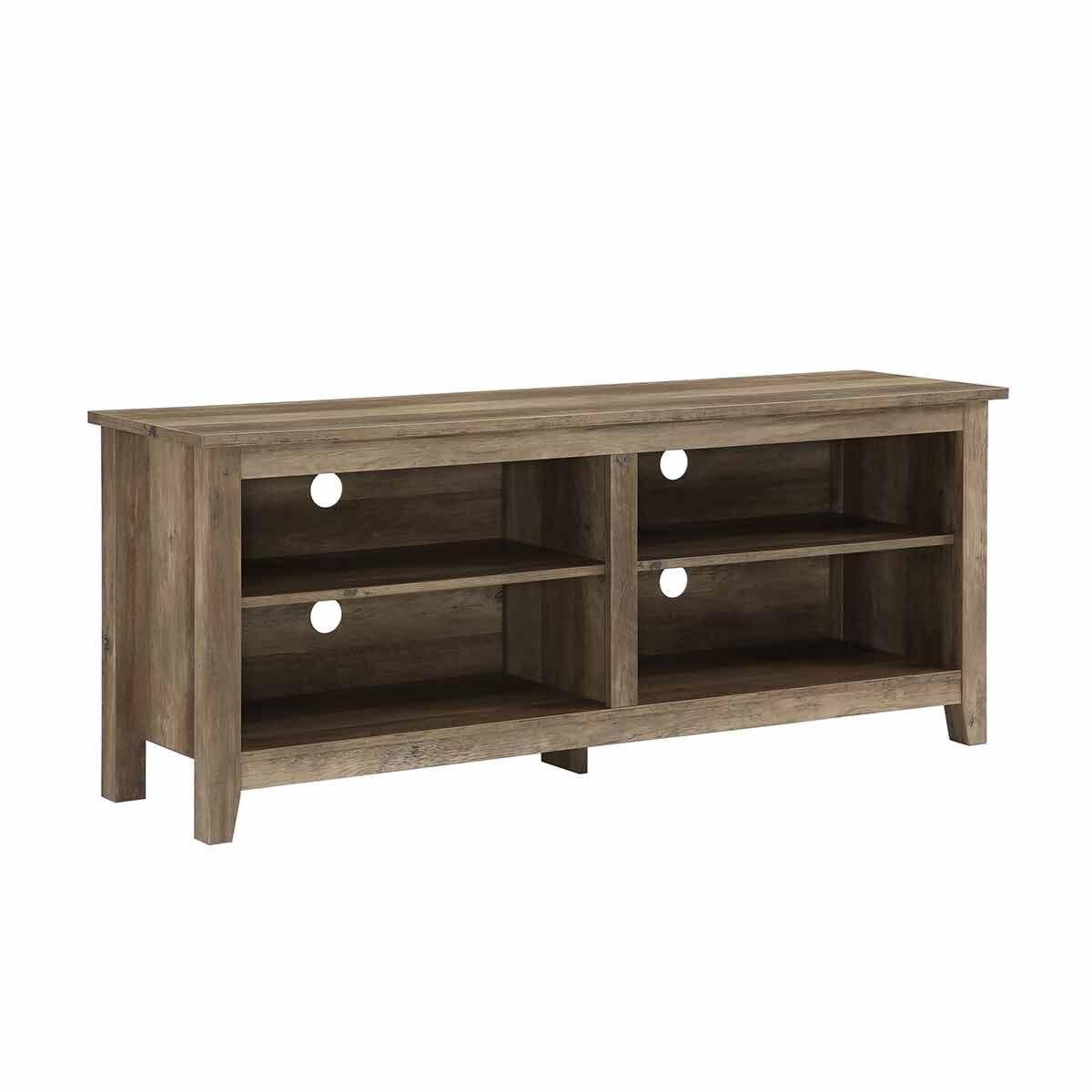 Cosenza Rustic Wood TV Stand Oak effect