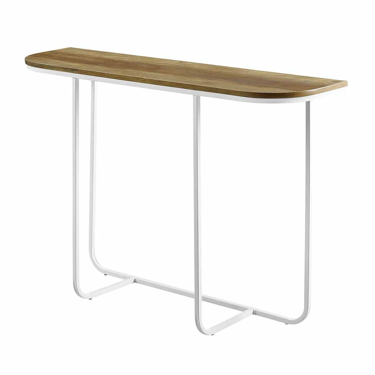 Salerno Modern Curved Entry Table