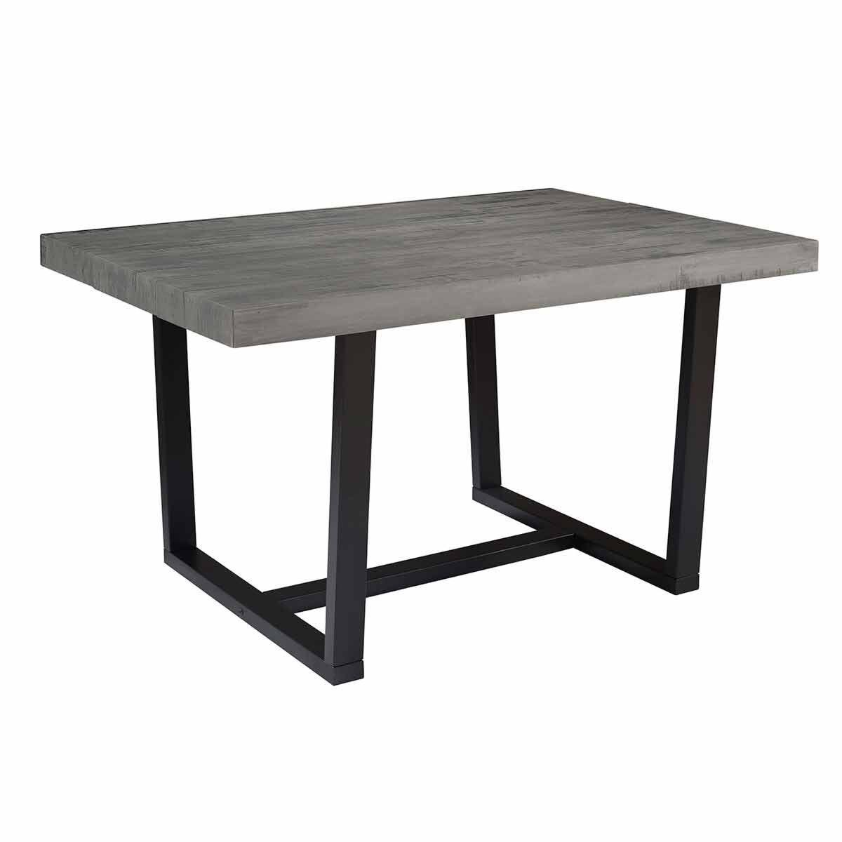 Rimini Distressed Solid Wood Dining Table Grey