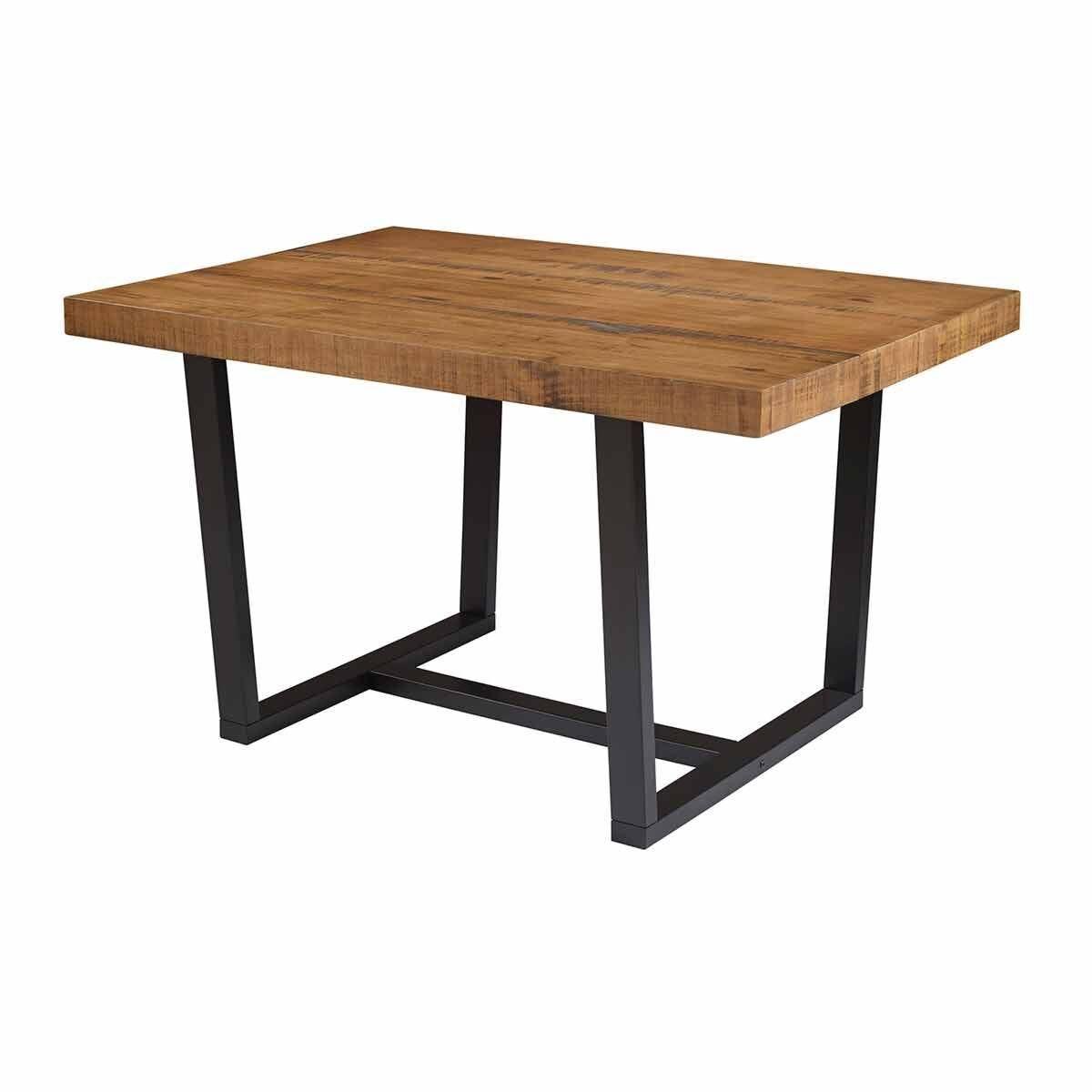 Rimini Distressed Solid Wood Dining Table Oak Effect