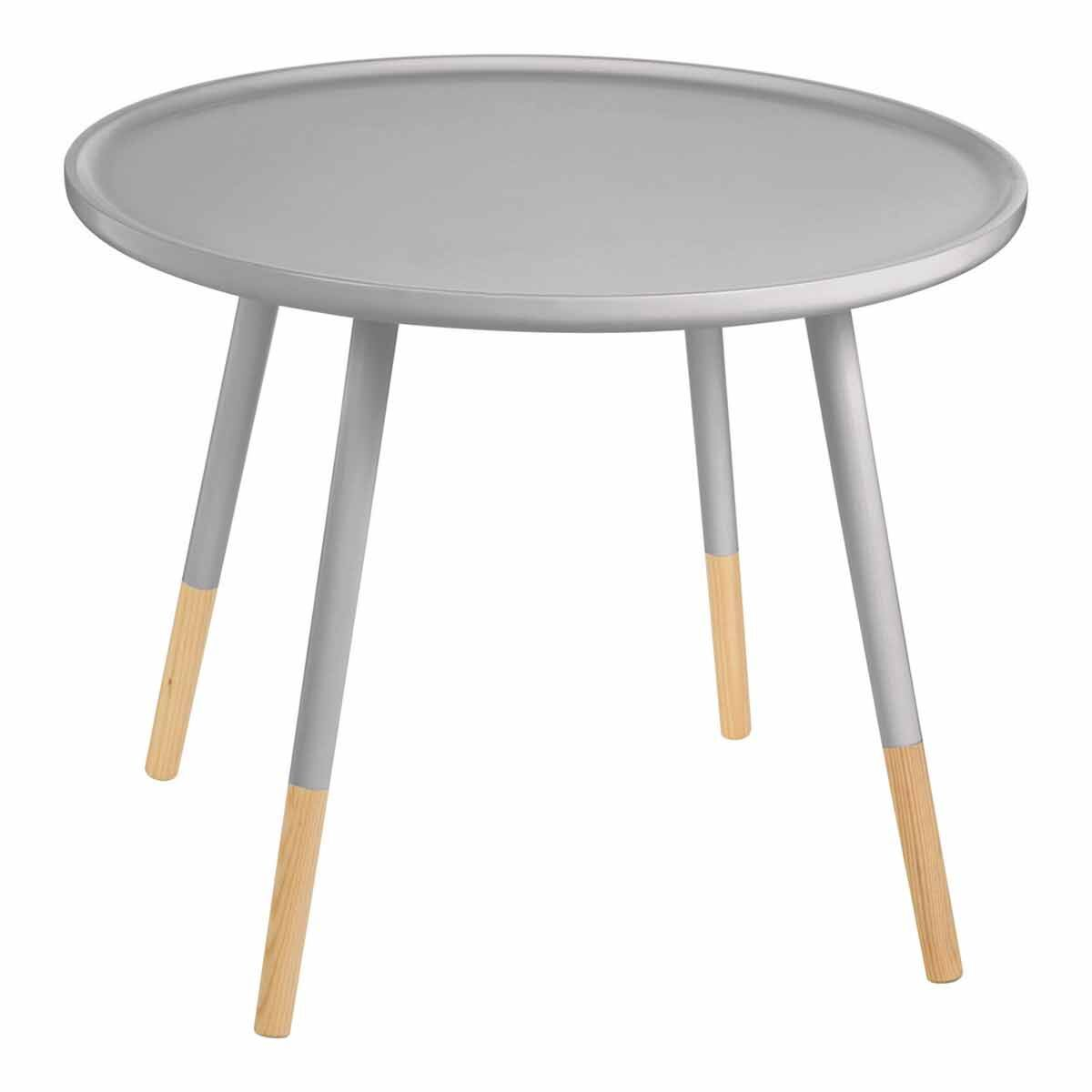 Premier Housewares Viborg Round Side Table Grey