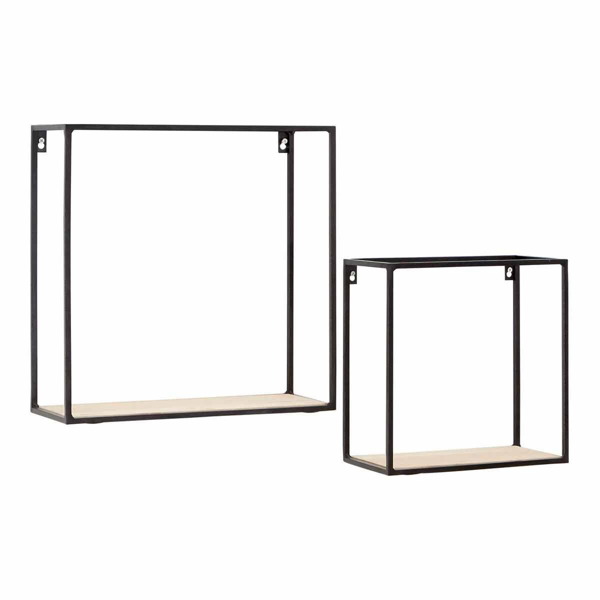 Premier Housewares Brixton Cuboid Shelf Set of 2