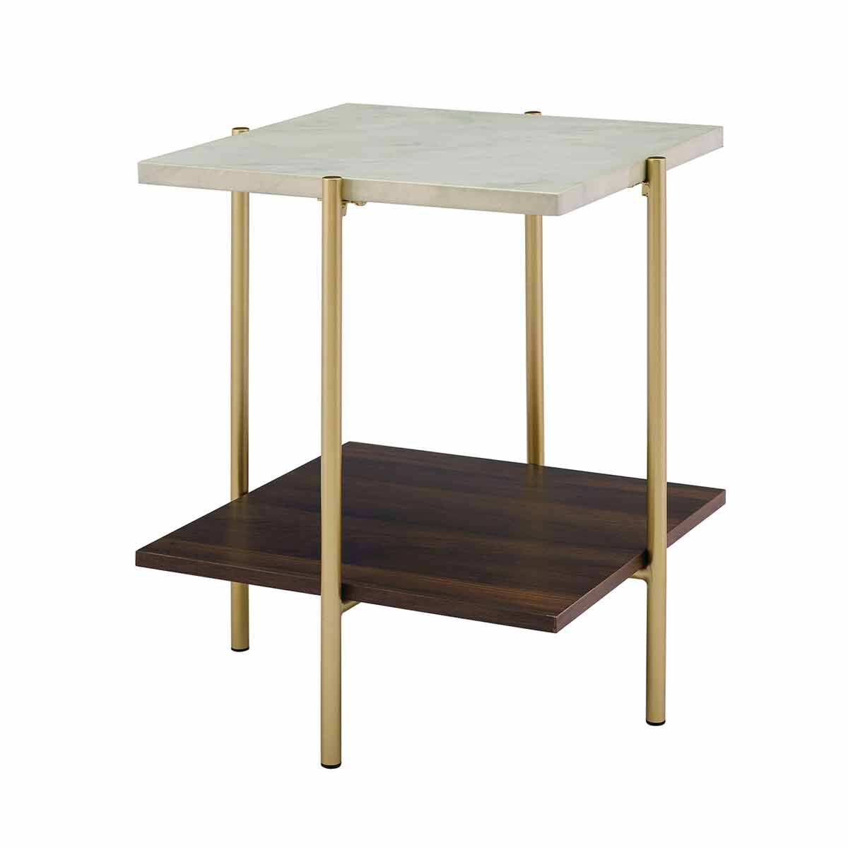 Riverside Mid Century Modern Square Side Table