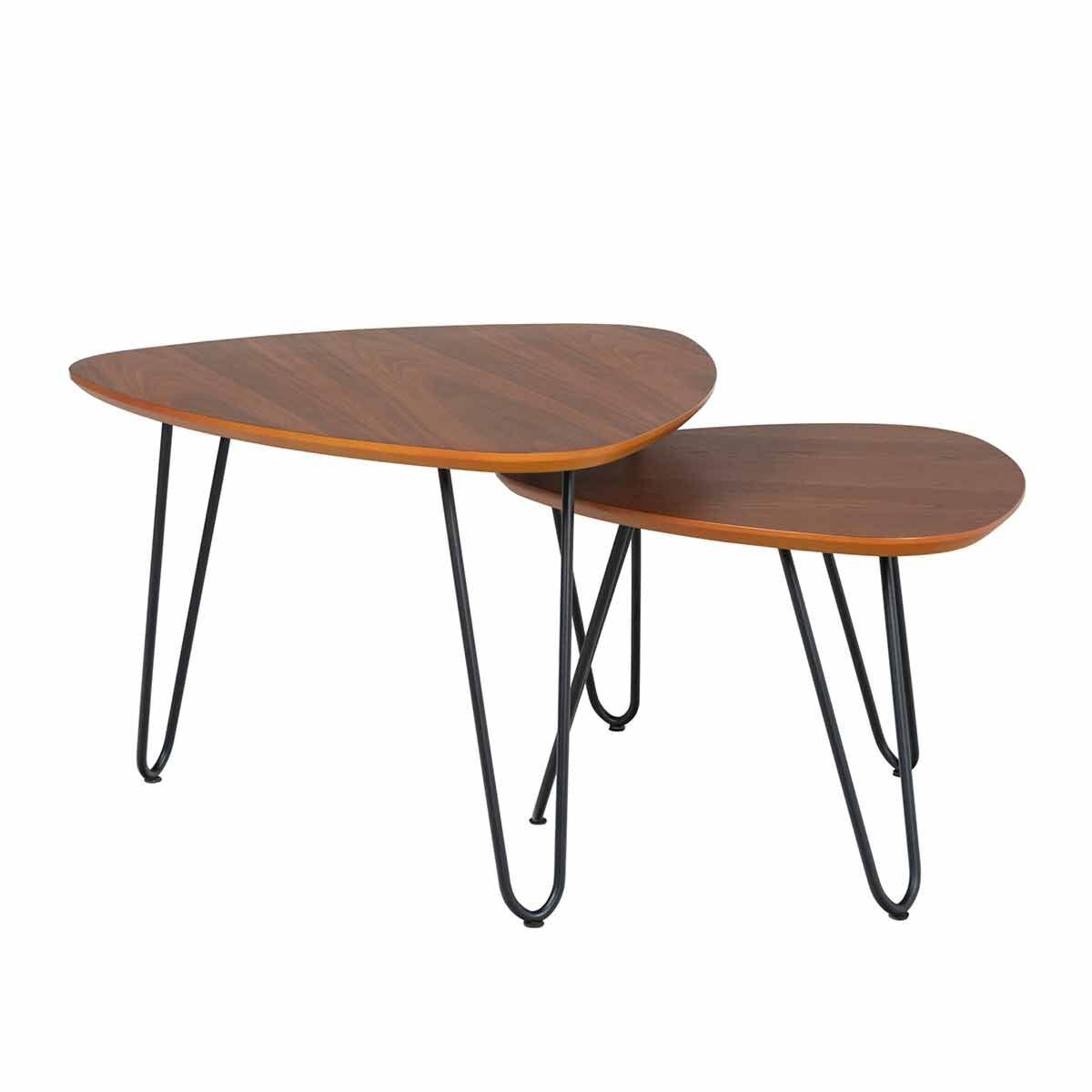 Lincoln Mid Century Modern Coffee Table Set of 2