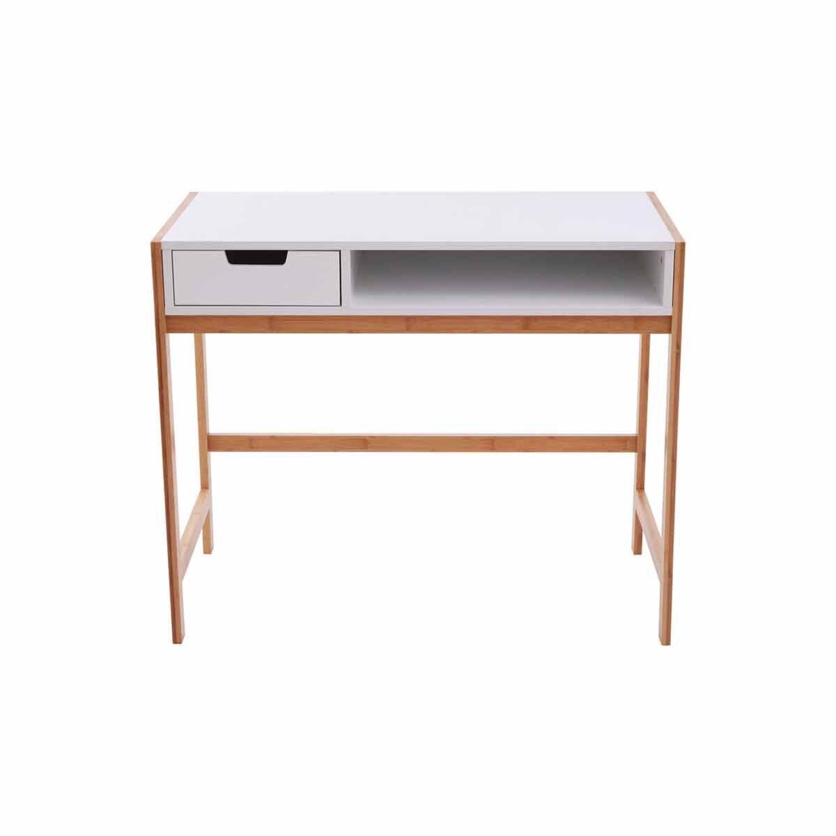 Premier Housewares 1 Drawer Desk with Bamboo Frame