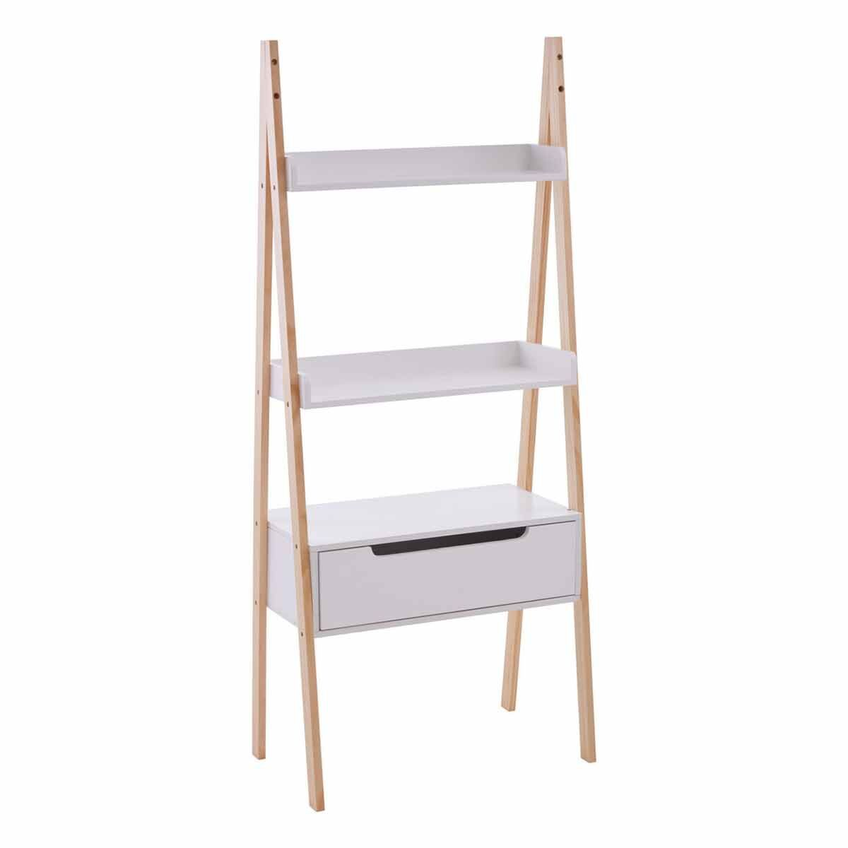 Premier Housewares Ladder Storage Unit with 3 Shelves and 1 Drawer