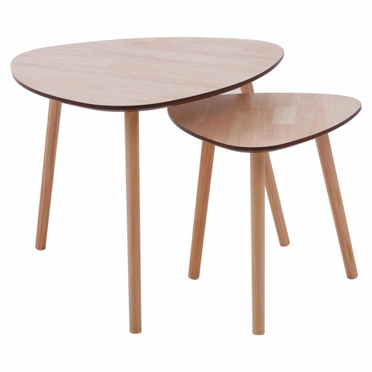 Premier Housewares Triangular Side Tables Set of 2