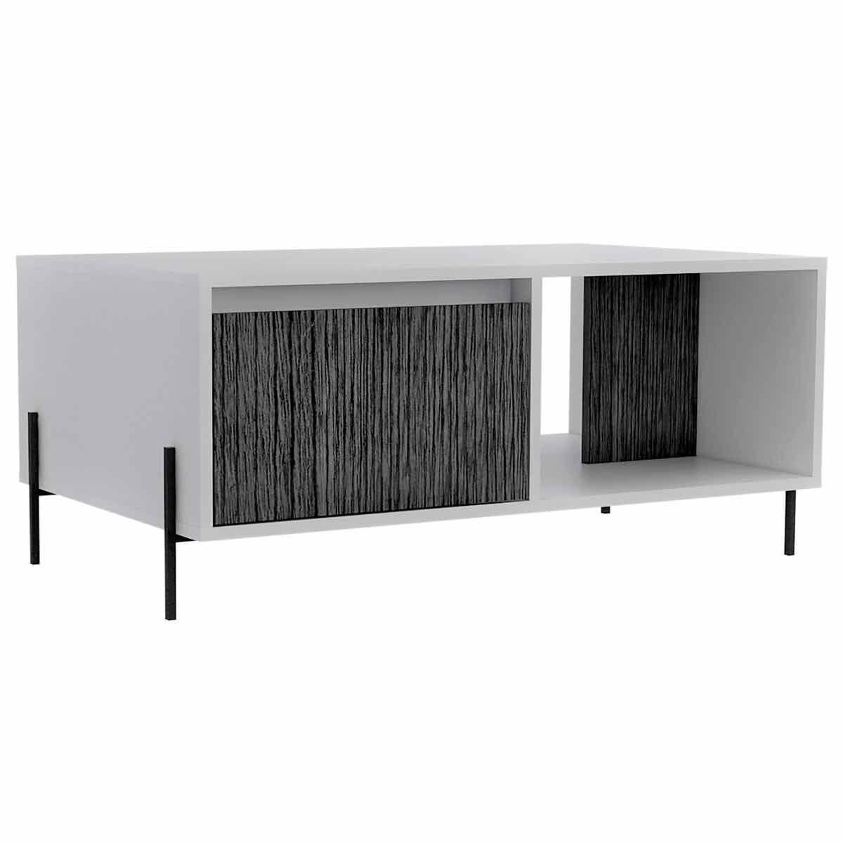 Dallas Two Tone Coffee Table with Storage