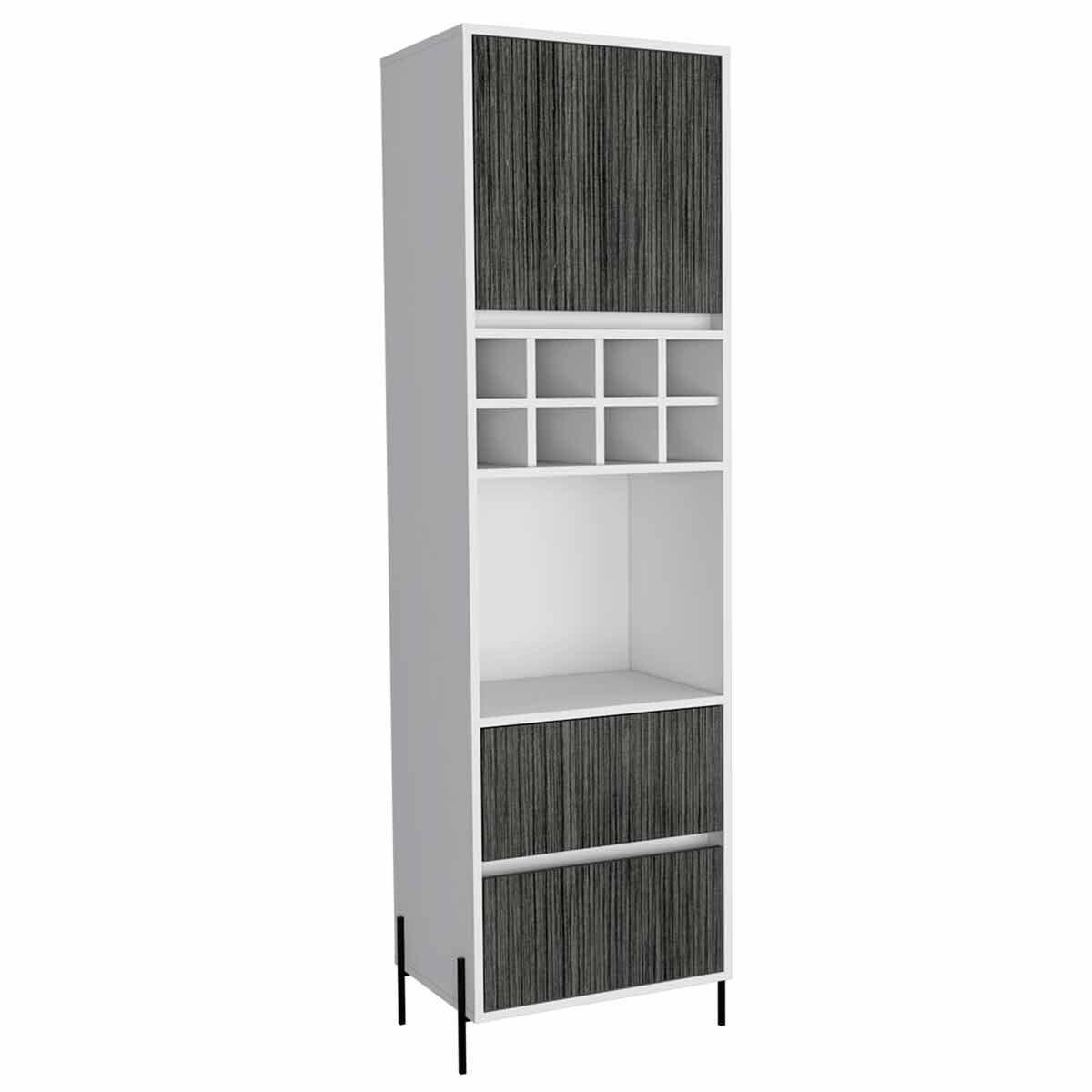 Dallas Two Tone Tall Bar Cabinet