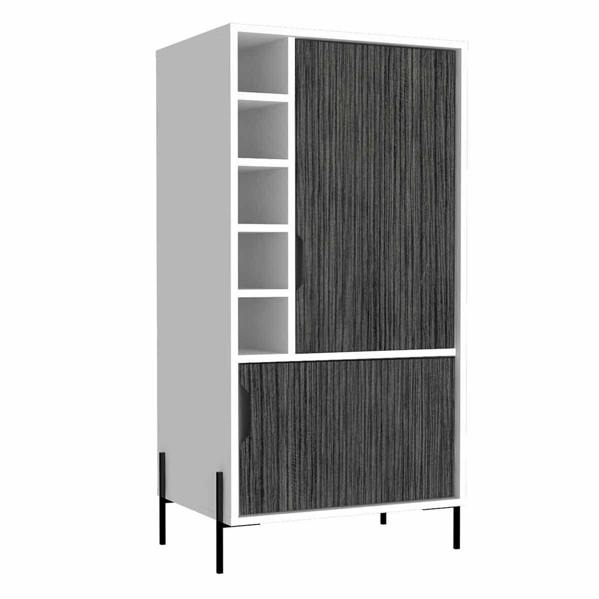 Dallas Two Tone Medium Bar Cabinet