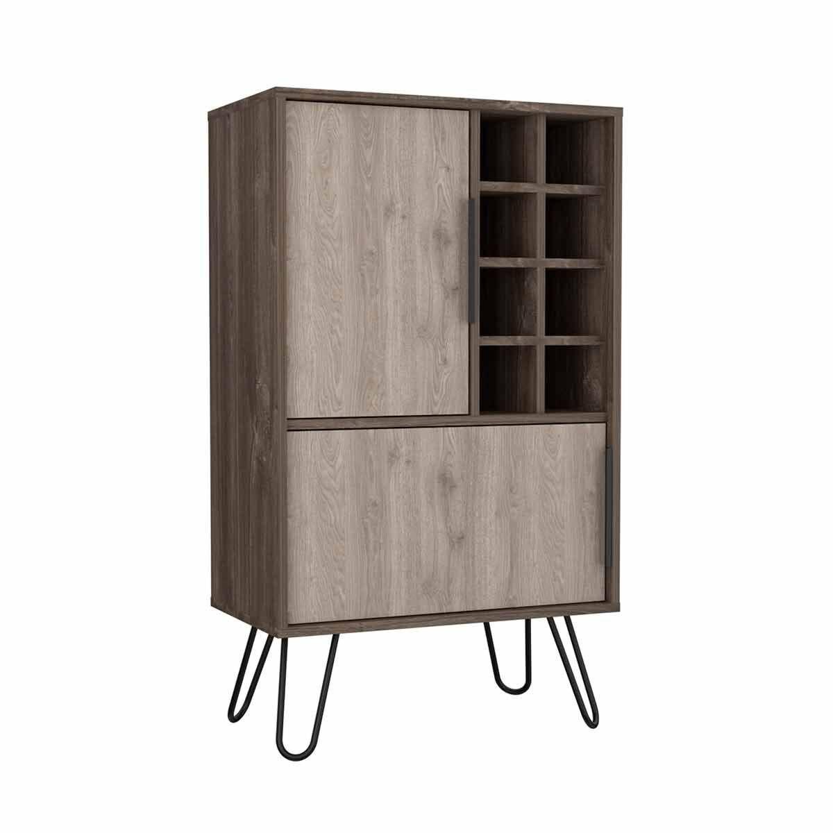 Nevada Medium Bar Cabinet with Hairpin Legs