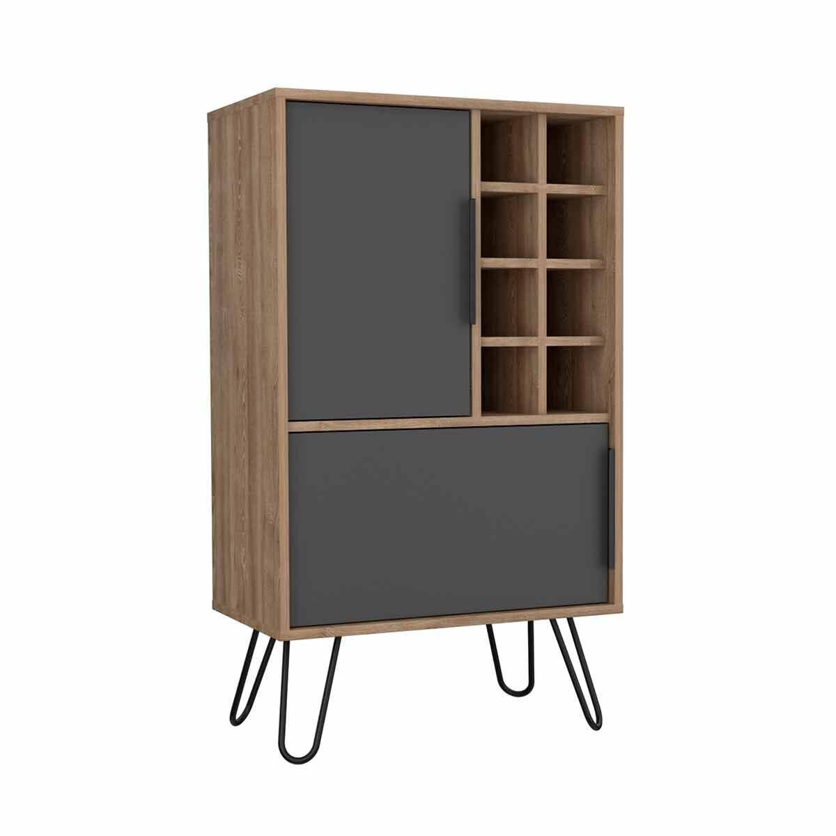 Vegas Medium Bar Cabinet with Hairpin Legs