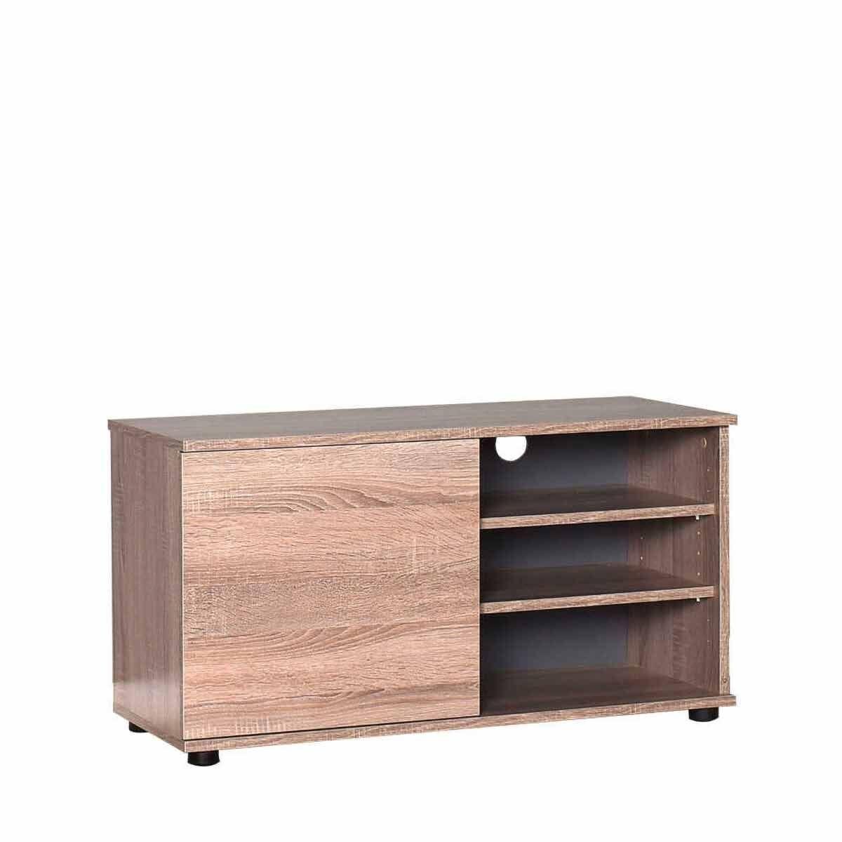 Flatline Wide TV Unit with Storage 90cm Oak