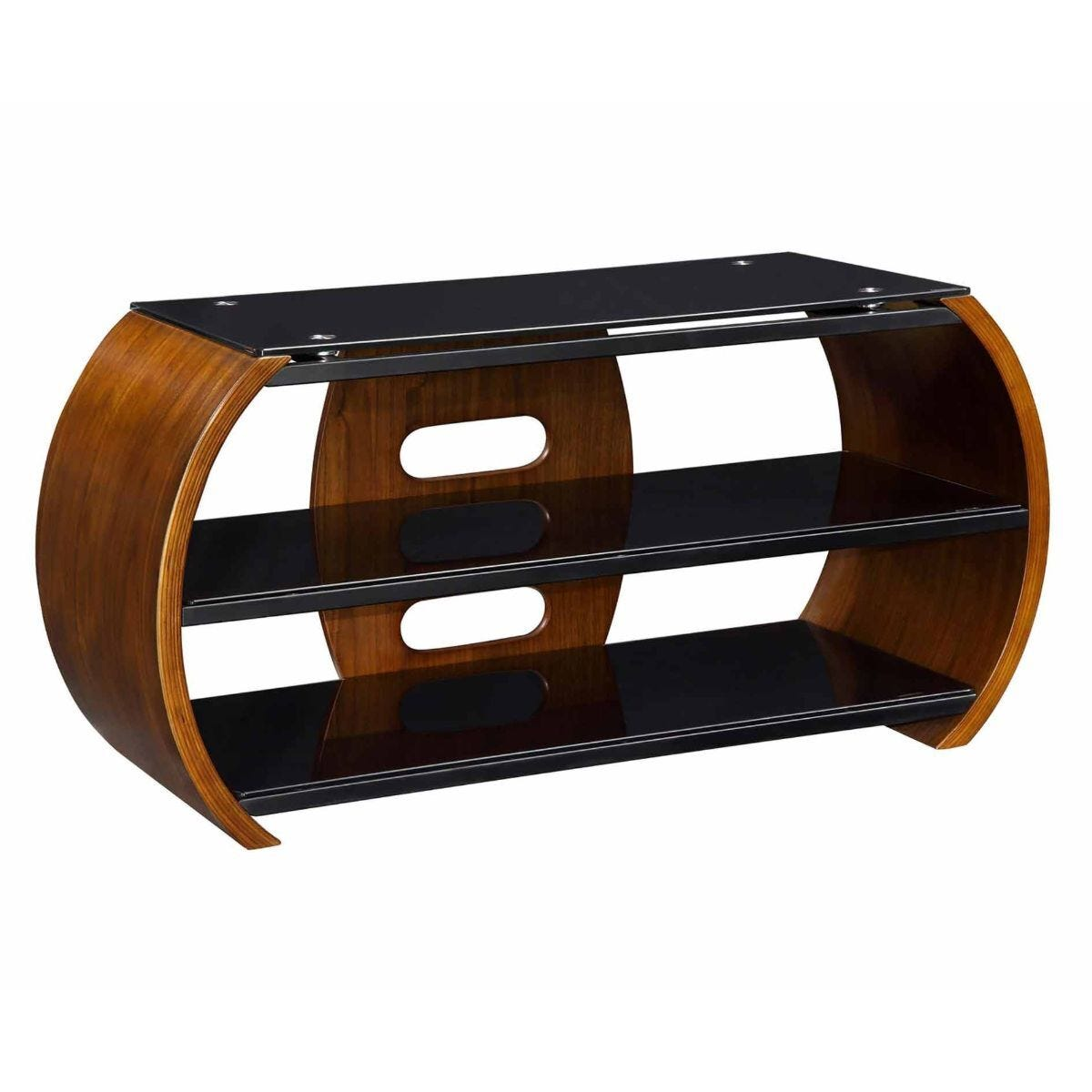 Jual Florence Curve Walnut TV Stand