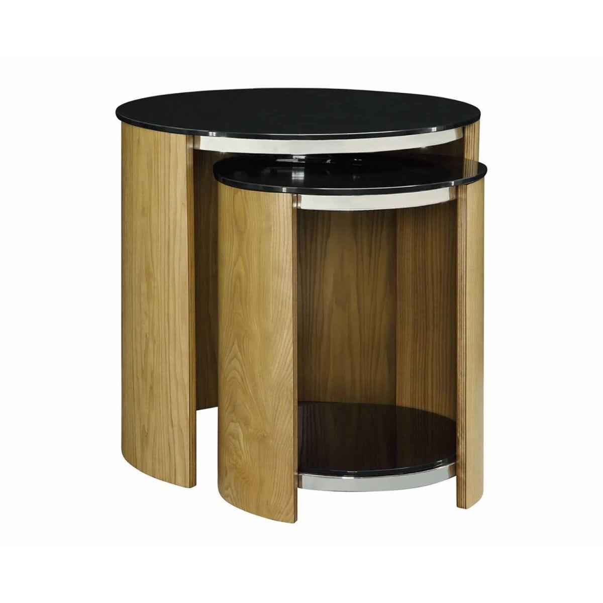 Jual San Marino Curve Nest of Tables Oak