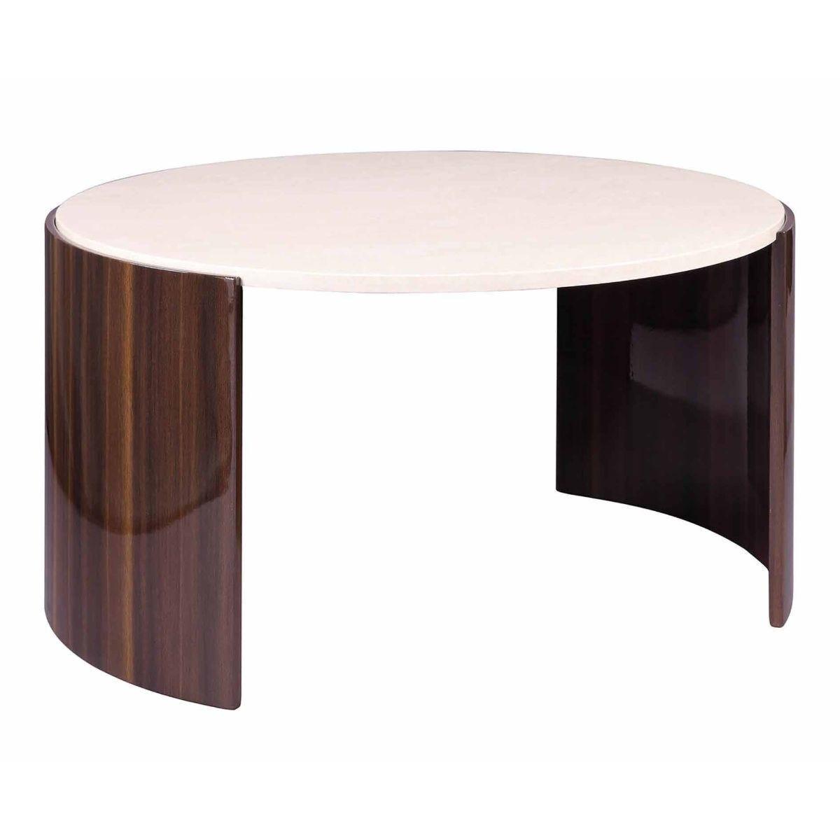 Jual Milan Polished Walnut and Cream Coffee Table