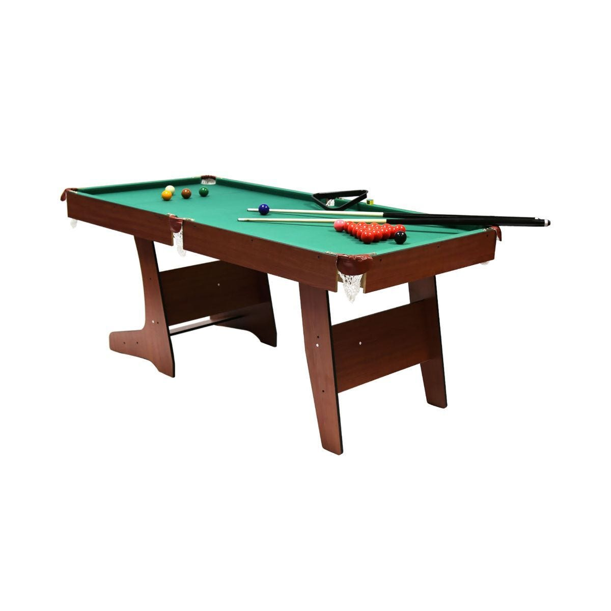 Charles Bentley Premium 6ft Pub Style Folding Snooker and English Pool Table