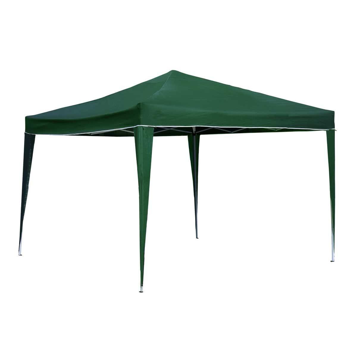 Charles Bentley 3m x 3m Foldable Gazebo Green