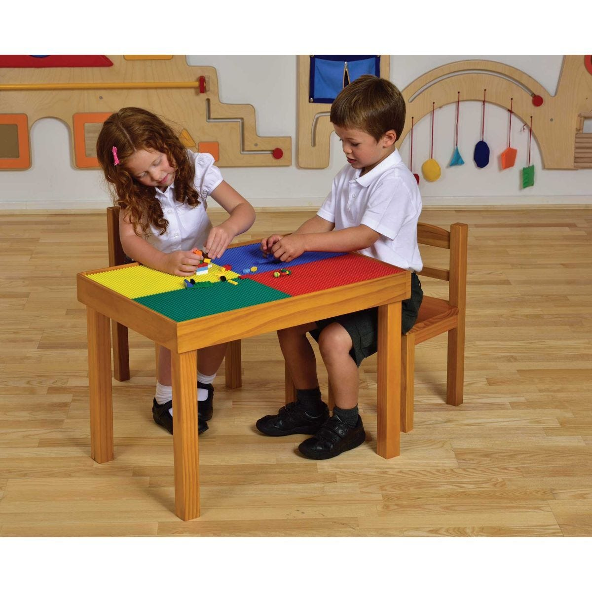 Childrens Wooden Activity Table and Chairs Set