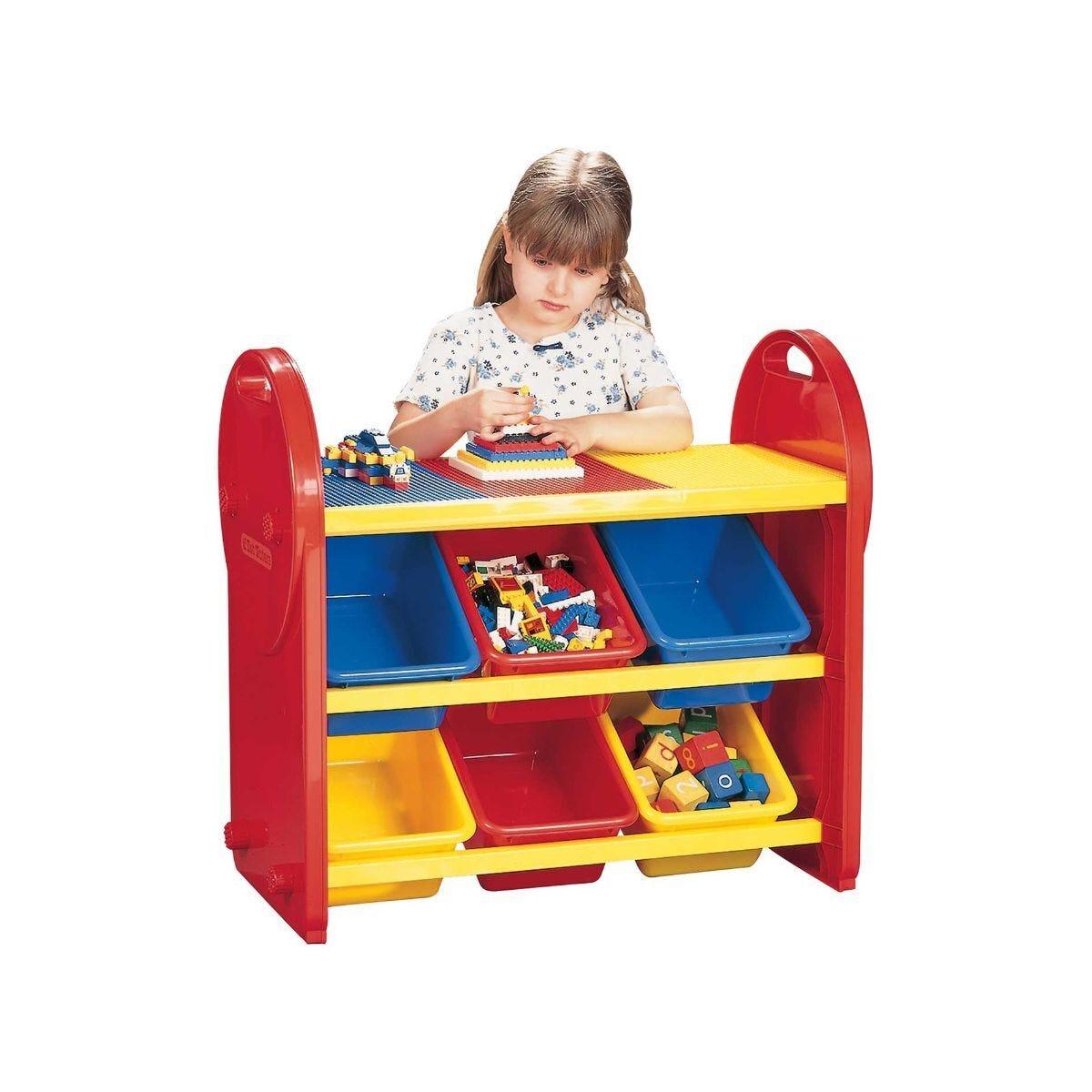 Childrens Plastic Storage 6 Bin Play Organiser