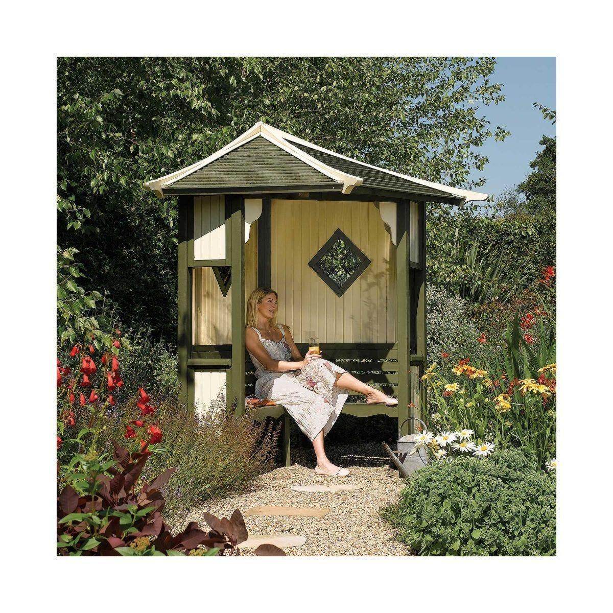 Rowlinson Haven Corner Arbour Garden Seat