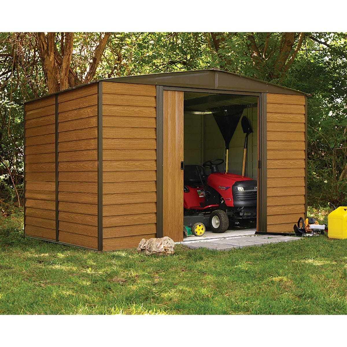 Rowlinson Woodvale Metal Garden Shed 10 x 8Ft