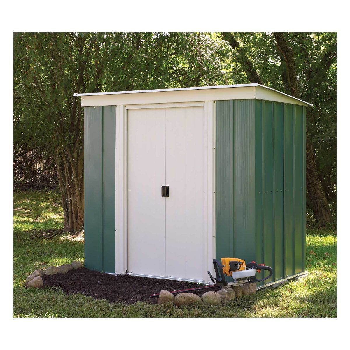 Rowlinson Metal Pent Garden Shed 6 x 4Ft