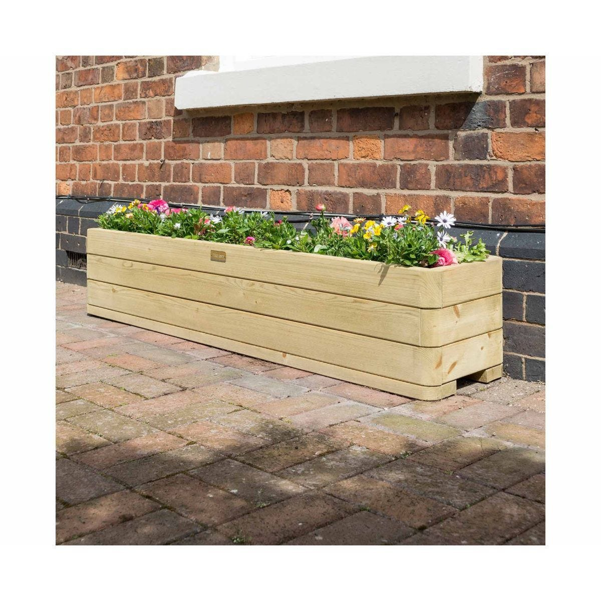 Rowlinson Marberry Wooden Patio Planter