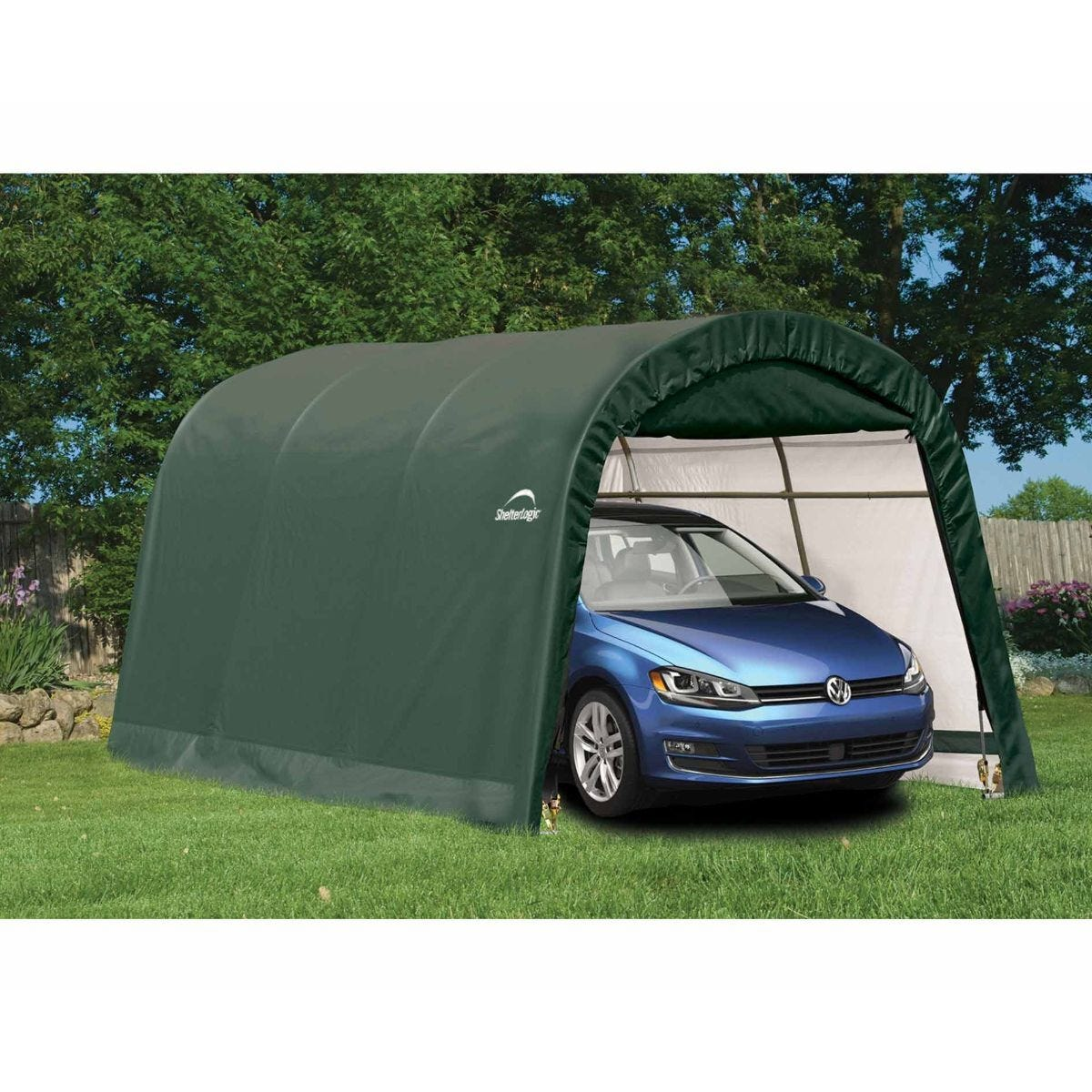 Shelter Logic Portable Round Top Auto Shelter 10 x 15ft