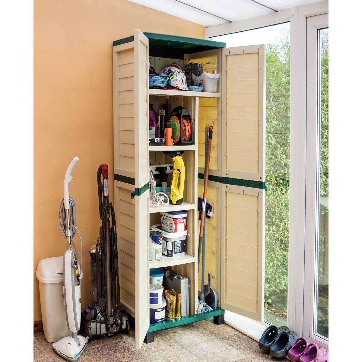 Rowlinson Plastic Garden Utility Store Cupboard