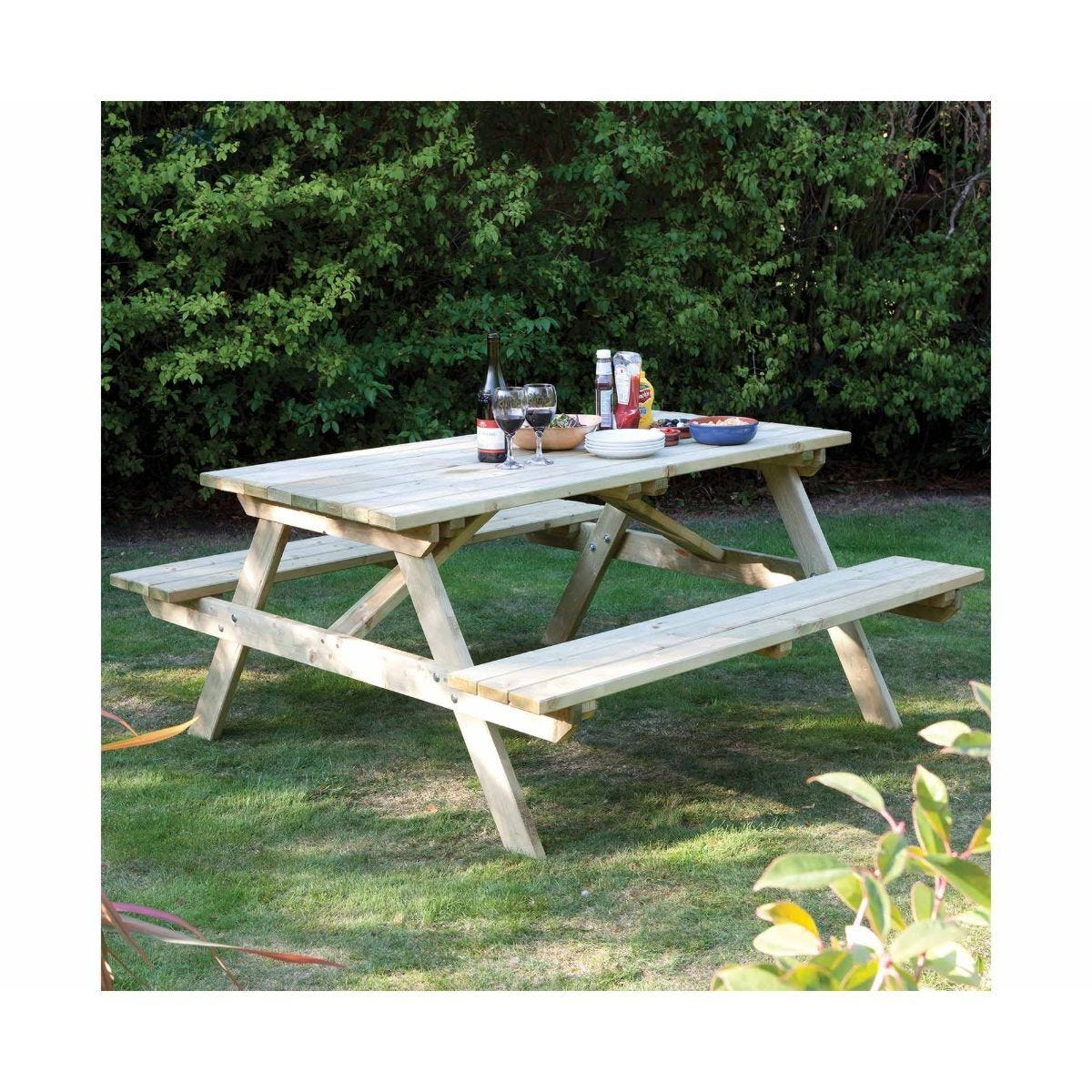 Rowlinson 4 Seater Picnic Table 4ft