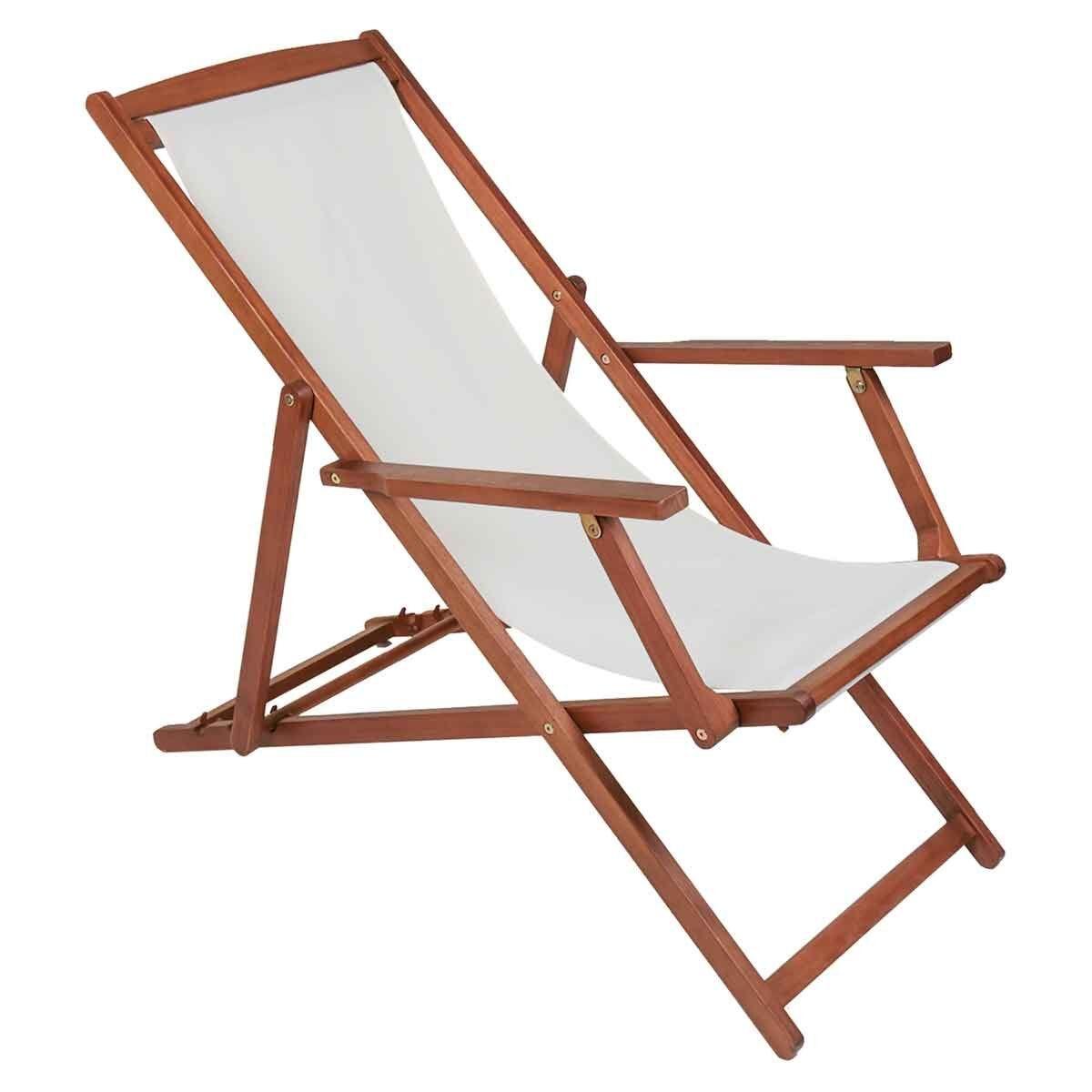 Charles Bentley Eucalyptus Beach Deck Chair