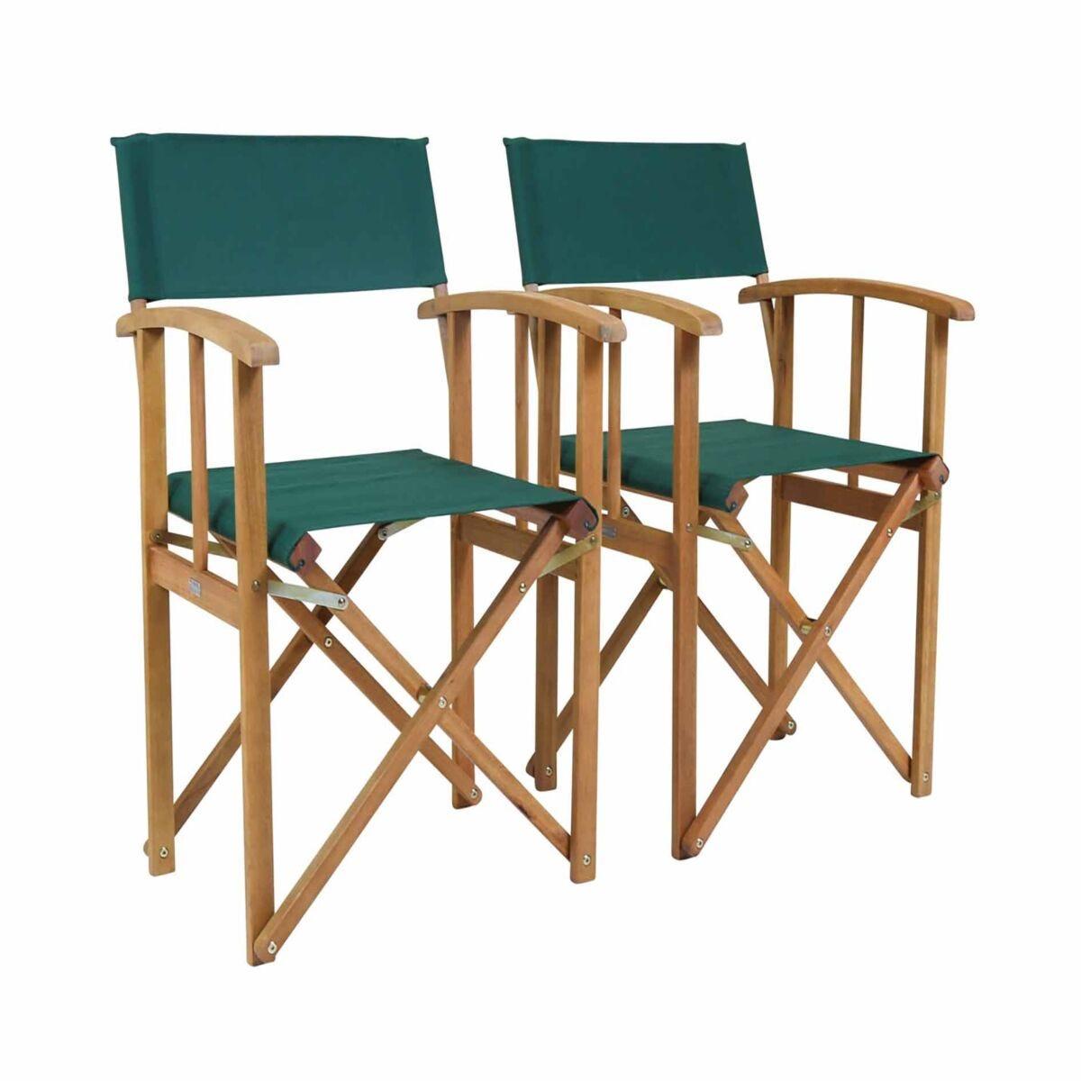 Charles Bentley Folding Garden Chair Set of 2
