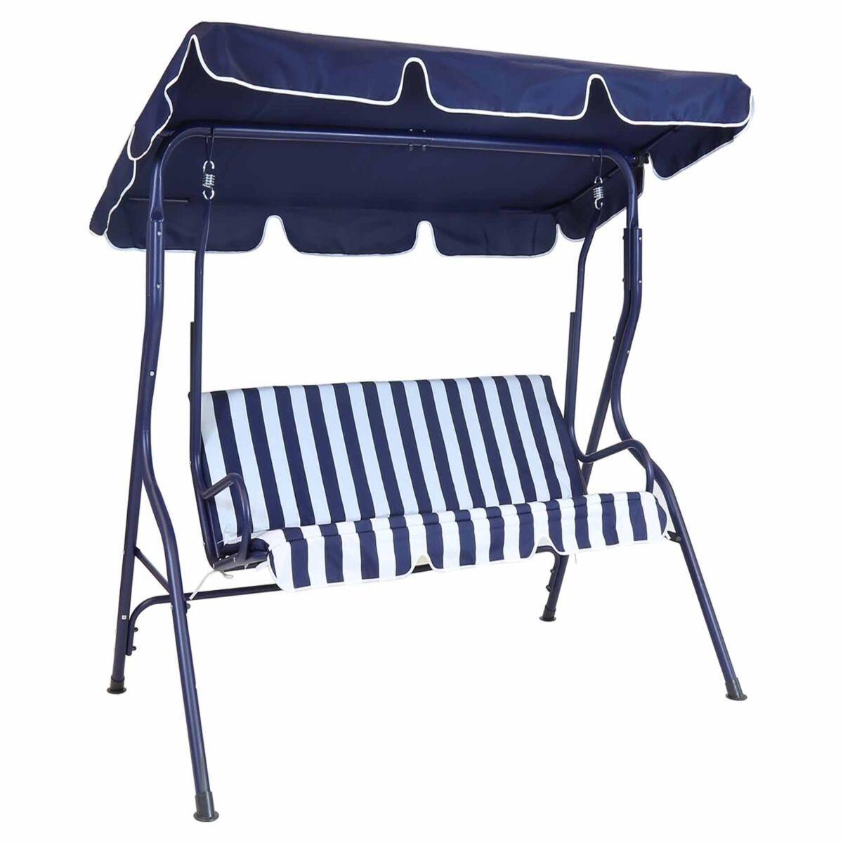 Charles Bentley Striped Garden Swing Seat