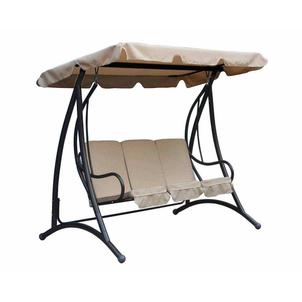 Charles Bentley Premium Canopy Garden Swing Seat