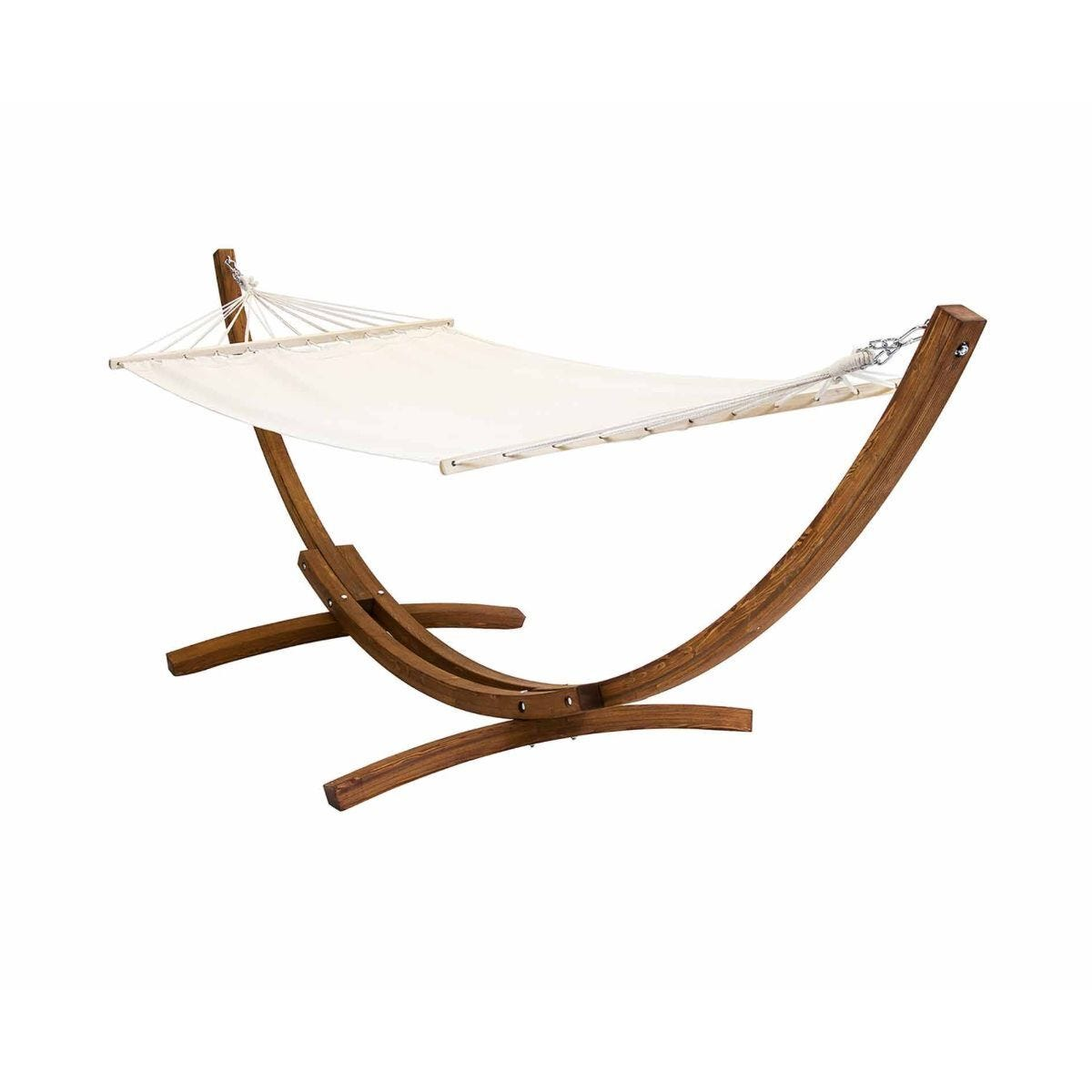 Charles Bentley Freestanding Hammock with Wooden Arc Stand