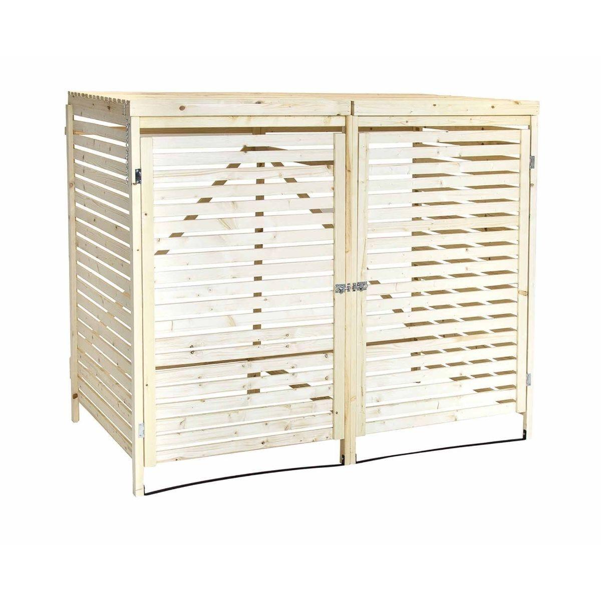 Charles Bentley Wooden Double Bin Store