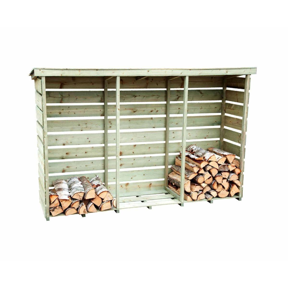 Charles Bentley Wooden Triple Log Store