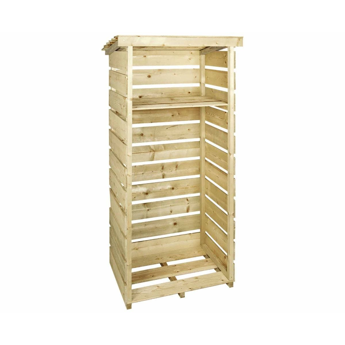 Charles Bentley Wooden Single Tall Log Store